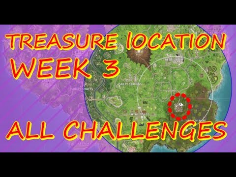 Follow The Treasure Map Found In Salty Springs / All Challenges Of Week 3