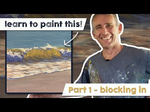 Acrylic Painting Wave Tutorial – Part 1 with Mark Waller