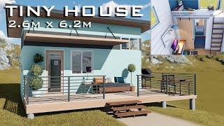 Tiny House Design | 2.6m X 6.2m 16sqm Floor Area | Full Video | Jha Aisha