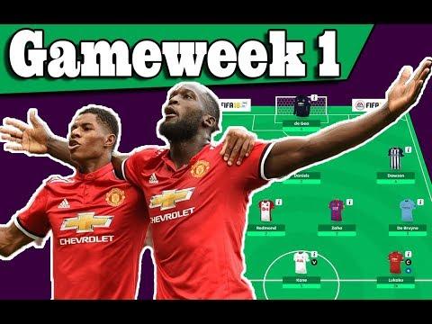Gameweek 1 - My Team Result - Lukaku WOW! Fantasy Premier League 2017/18