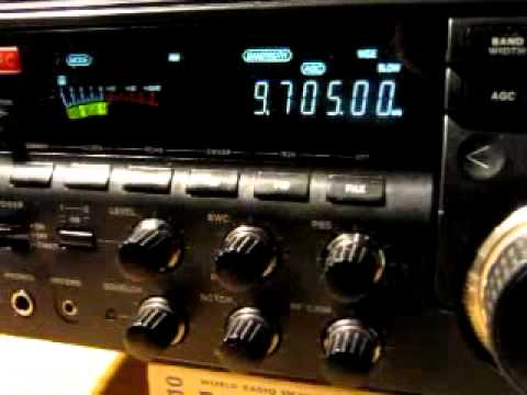 Radio Ethiopia 9705 kHz signing off with National Anthem - received in Germany