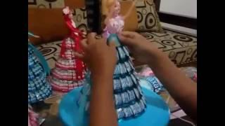 Tutorial membuat baju barbie candy hijab ala KREANA