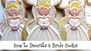 How to Decorate a Bride Cookie