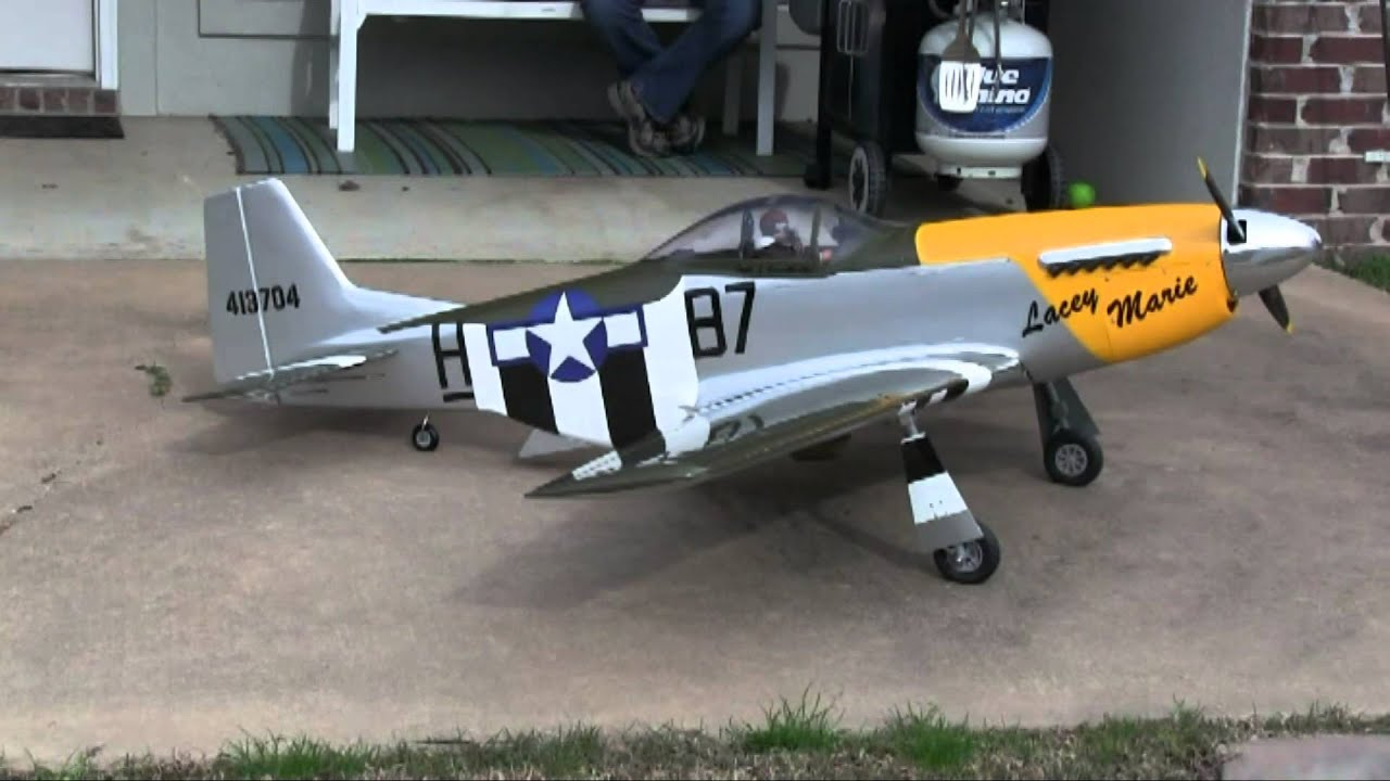 2 22 14 Hangar9 150 P 51 Robart Electric Retracts And