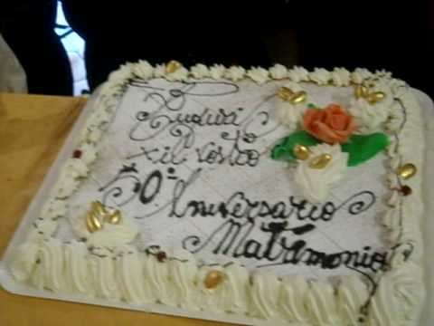 Torta 50 Di Matrimonio Youtube