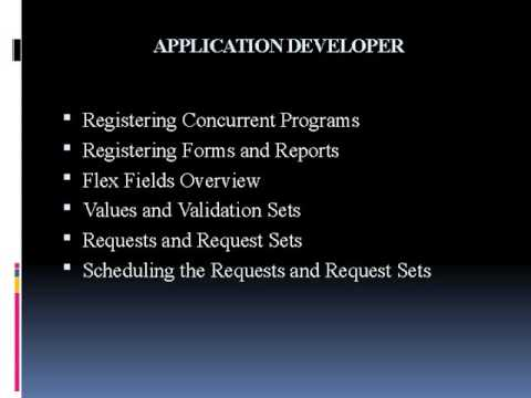 Oracle Apps Technical HRMS Online Training