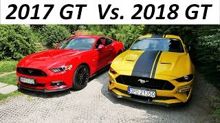 Ford Mustang GT 2018 Vs. 2017 - TEST PL