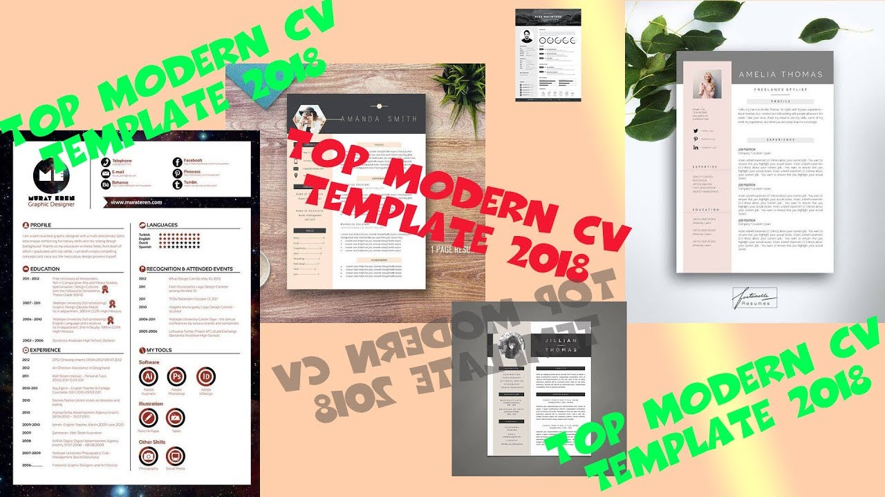 Top Modern Cv Template 2018 Download Free Youtube