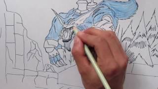 Rework Warwick - Fan art Speed Drawing!