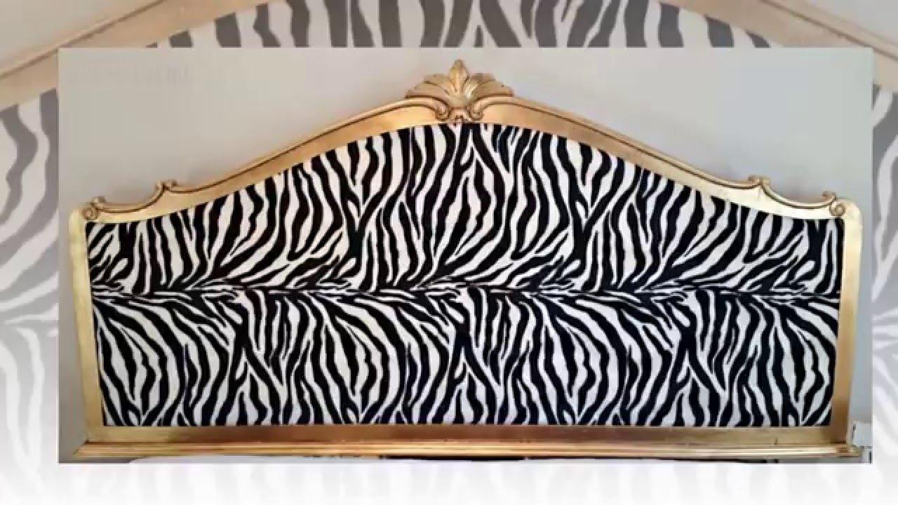 cabeceros vintage tapizados con tela de cebra - Como Hacer Un Cabecero De Tela