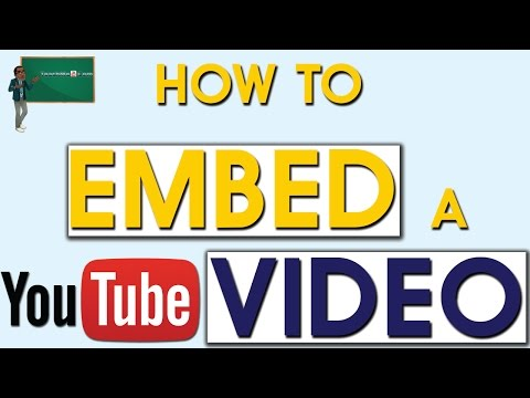 How to Embed Youtube Video into Webpage