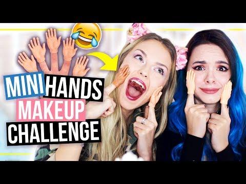 Ganzes Makeup mit MINI-HÄNDEN! 😂 TINY HANDS Makeup Challenge mit xLaeta!