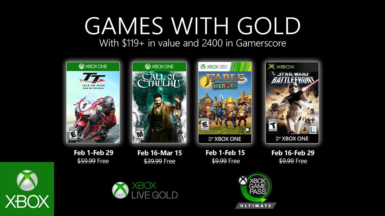 Get free Xbox games with Games with Gold