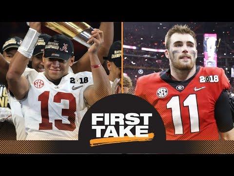 Did Alabama win it or did Georgia lose it? First Take makes their picks | First Take | ESPN