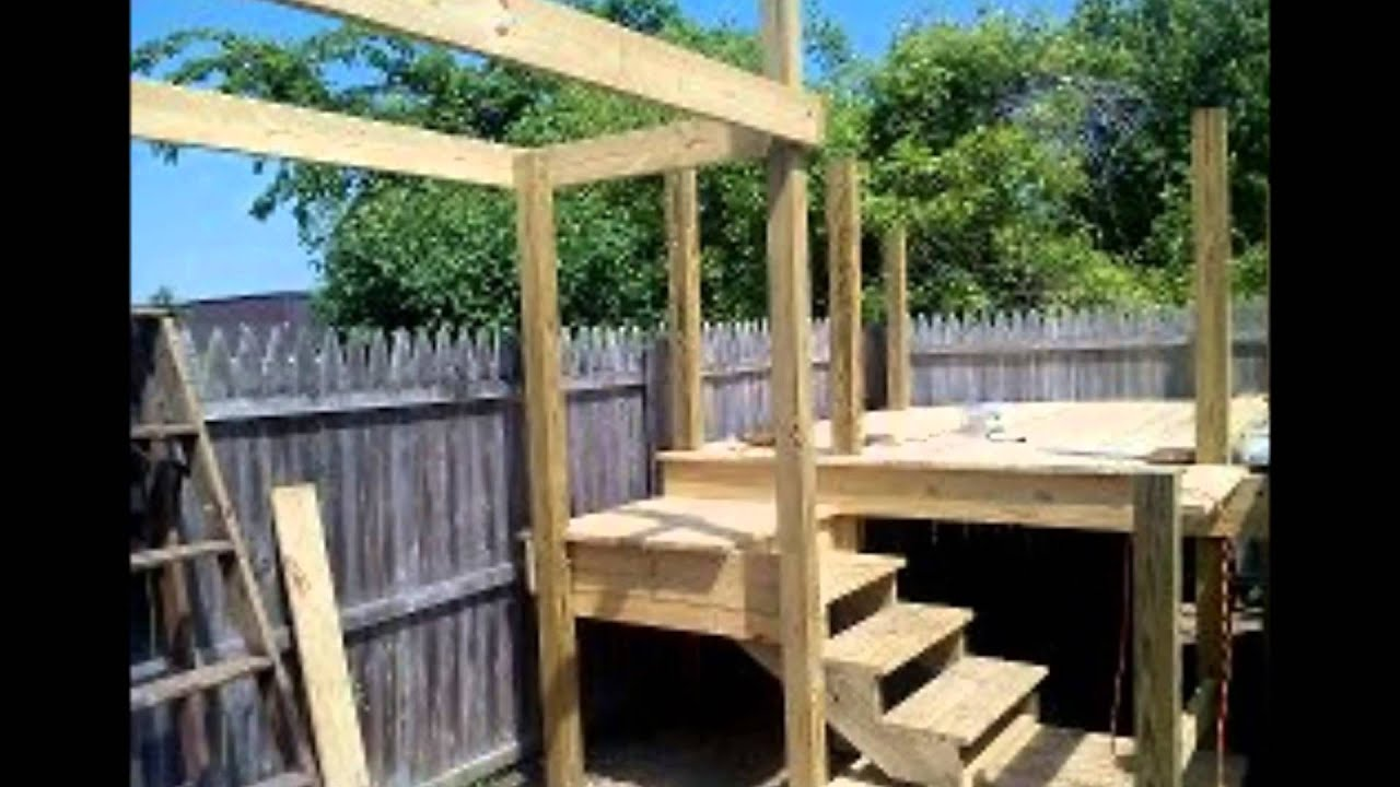 deck pavillion and backyard movie theater project 2014 youtube