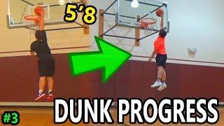 Dunk Progress After 6 Months! 5'8 Dunk Training #3 Video