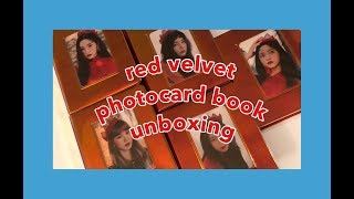 red velvet photocard collection book unboxing