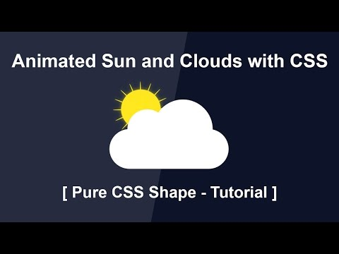 animated-sun-and-clouds-with-css---pure-css-shape-tutorials---css-animation-effect