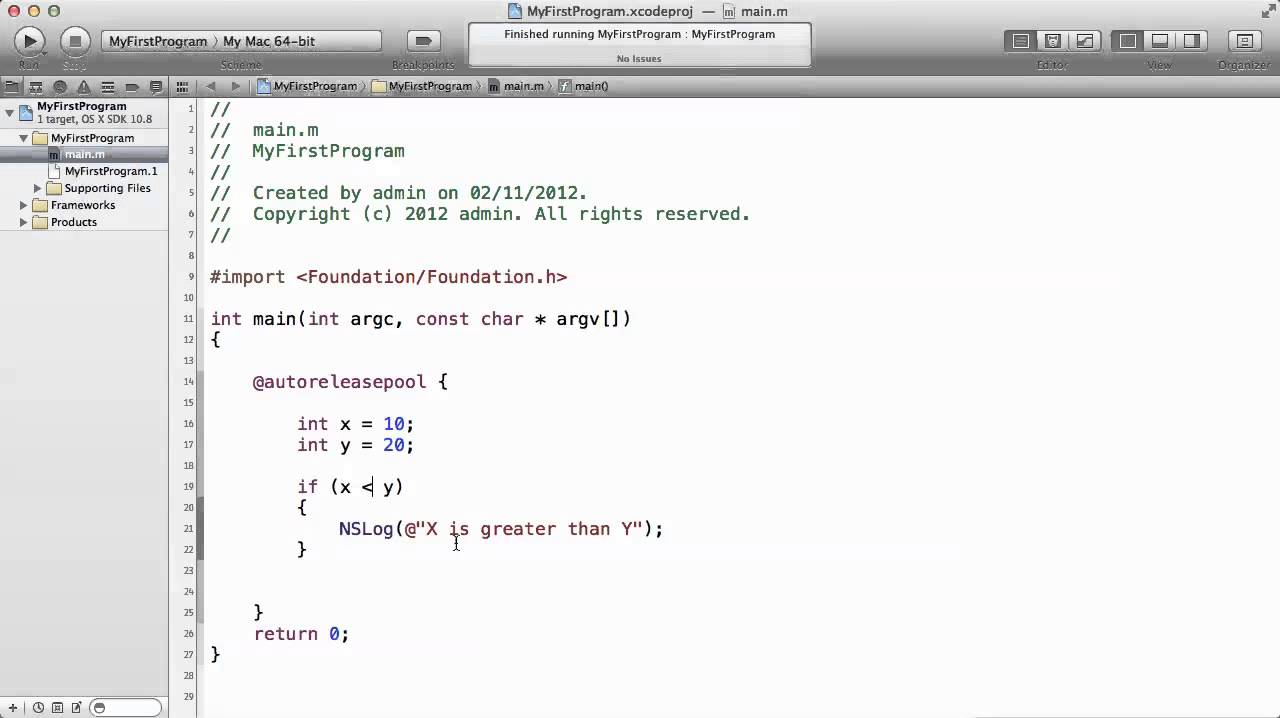 Objective c tutorials 22 if statement example youtube objective c tutorials 22 if statement example baditri Image collections