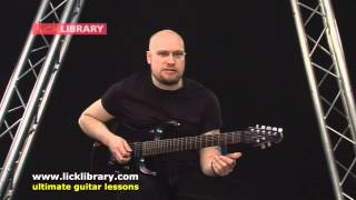 How To Play  - Down From The Sky by Trivium  - Intro Guitar Lesson with Andy James Licklibrary