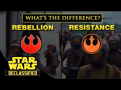 The Rebel Alliance and The Resistance: What