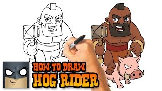 How to Draw Clash Royale | Hog Rider