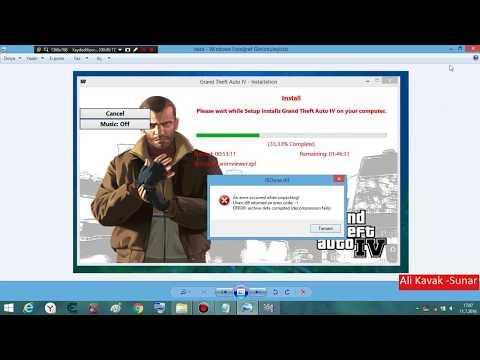 GTA 4 ISDone Dll Ve Unarc Dll Hatasının çözümü %99 Oluyor Denemelisiniz...