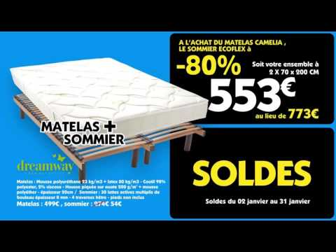 le roi du matelas soldes janvier 2016 wallonie youtube. Black Bedroom Furniture Sets. Home Design Ideas