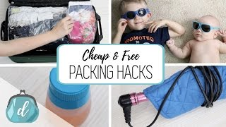 Cheap & FREE Packing Hacks!
