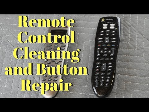 TV Remote Control Cleaning and Button Repair
