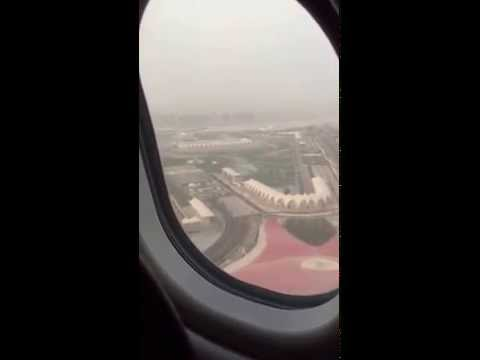 Jet Airways Landing Abu Dhabi Airport
