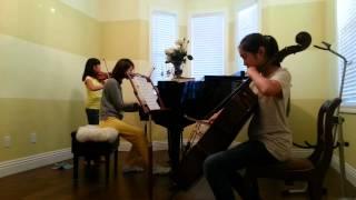 The Palms by Faure. Piano, violin and cello trio.