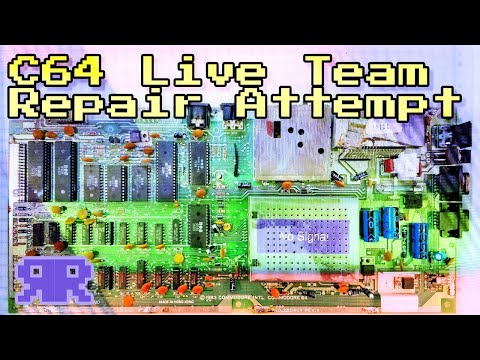 Live: Commodore 64 Collaborative Team Repair! - CMM Station