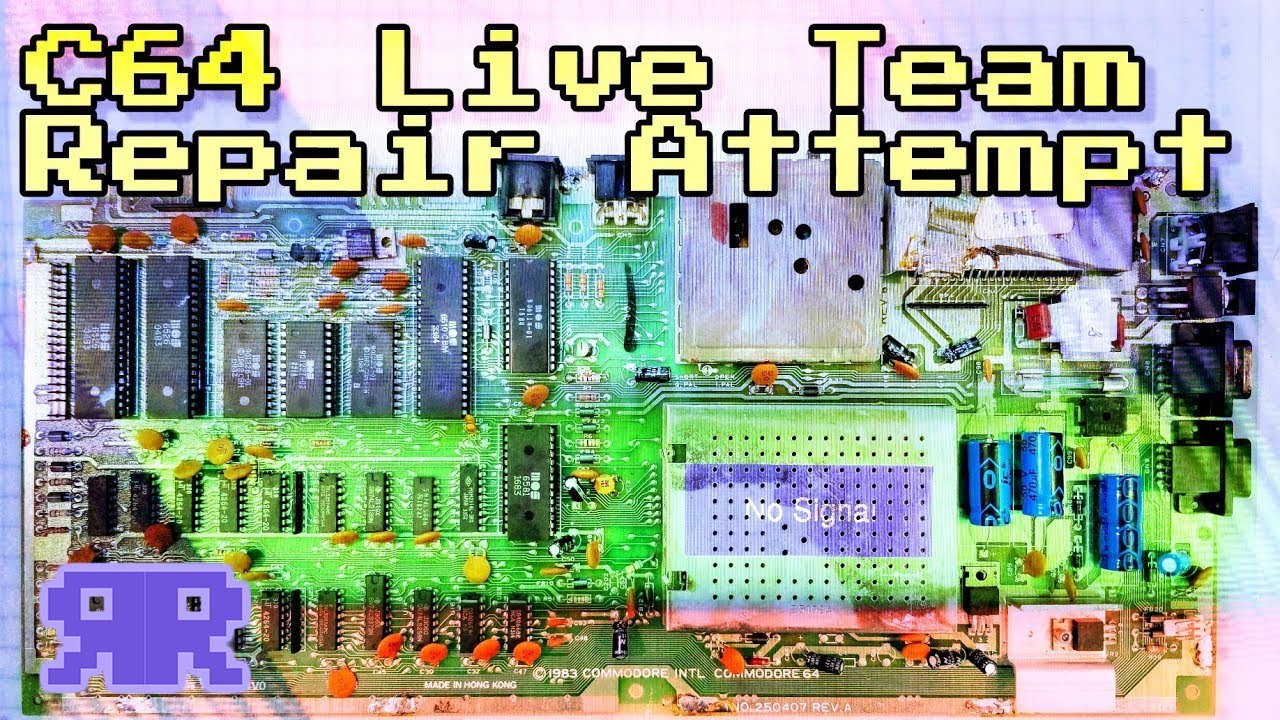 Live: 3hr Commodore 64 Collaborative Team Repair Attempt! | see description