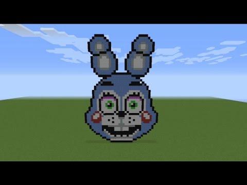 Fnaf Toy Bonnie Minecraft Pixel Art Speed Build