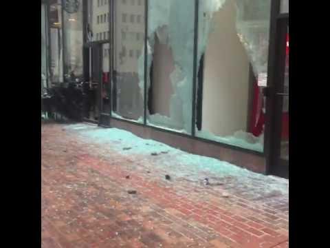 RAW: Anti Trump Protestors Riot During Trumps Inauguration