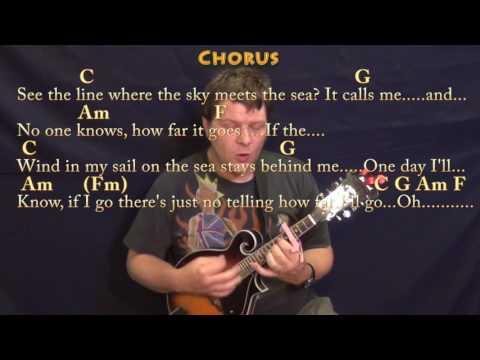 How Far I'll Go (Alessia Cara) Mandolin Cover Lesson with Chords/Lyrics - Capo 4th/5th