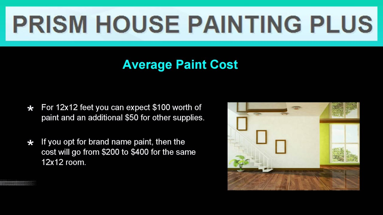 How Much Does It Cost To Paint A House Interior YouTube - How much to paint house interior