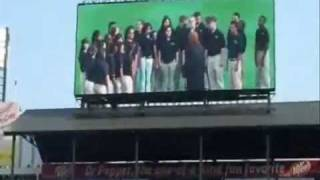 Travis Middle School Choir Sings at Texas Rangers Baseball Game