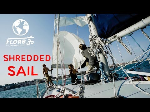 Liveaboard Sailing: The Wind DESTROYS our Head Sail in France