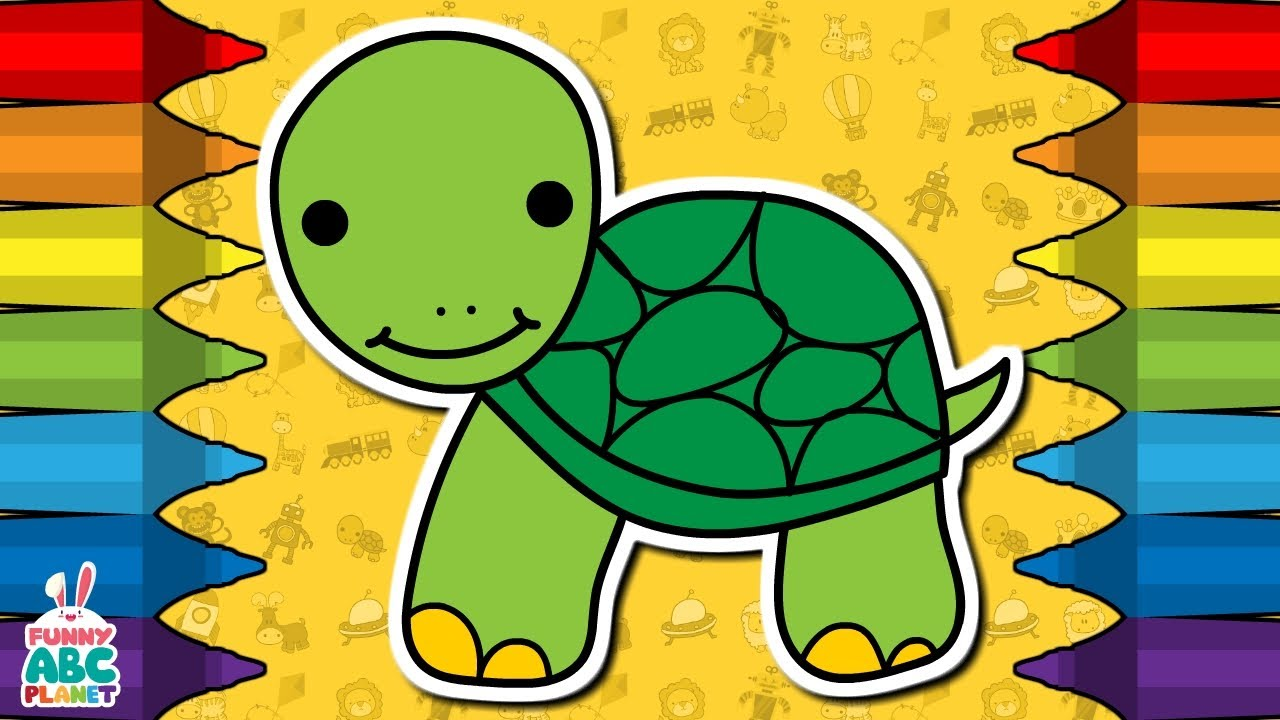 How To Draw A TURTLE - Step by Step - for Kids - YouTube