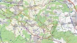 Map1.eu vs Google Maps, Germany (countryside 1)