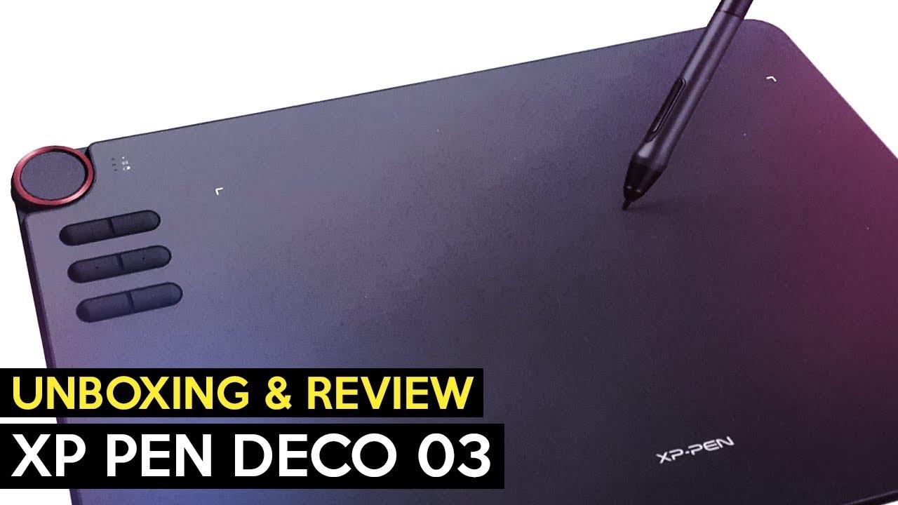 XP Pen Deco 03 Tablet【Unboxing & Review】 - YouTube