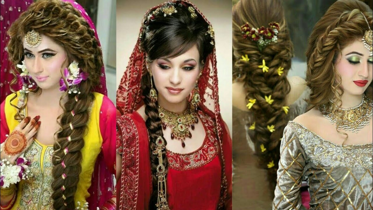 Latest Bridal Hairstyles Reception Party Hair Style Engagement Hairstyles