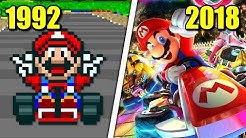 Evolution of Mario Kart Games (1992 - 2018)