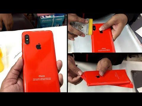 Redmi Note 6 Pro Converted in Iphone XS MAX decorate trick apple skin