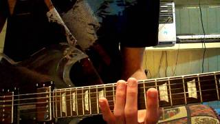 How to Play  intro solo of hearts burst into fire by bfmv on guitar instructional lesson