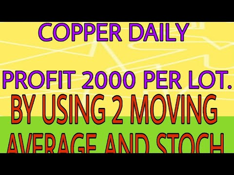 COPPER DAILY PROFIT 2000 PER LOT. by USING 2 MOVING AVERAGE AND STOCH.