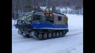 Дороги севера. Тяжелый подъем на зимнике Усинск. Жесть.