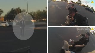 Videos released of officer shooting involving man with medical foreceps in Glendale